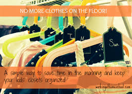 a simple way to organize clothes save time in the morning