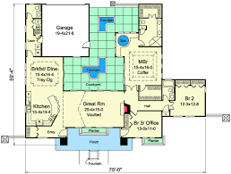 mediterranean floor plans with courtyard mediterranean home plan with central courtyard 57268ha florida