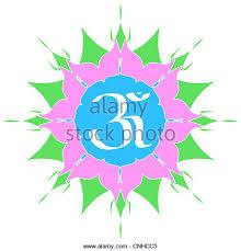Lotus Flower With Om Symbol - om symbol stock photos u0026 om symbol stock images alamy