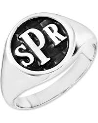 monogram signet ring check out these bargains on monogram signet ring in 14k white gold