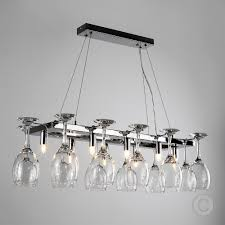 Light Fittings For Kitchens Modern 8 Way Chrome Wine Glass Rack Chandelier Suspended Ceiling