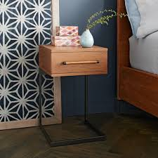 Wrought Iron And Wood Nightstands Logan Industrial Platform Bed Natural West Elm