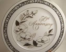 anniversary plates 50th anniversary vintage 50th anniversary gifts etsy