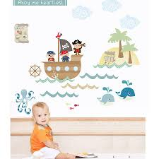 pirates fabric wall stickers by littleprints notonthehighstreet com pirates fabric wall stickers