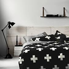 http se3 co nz products black crosses duvet cover aura by tracie