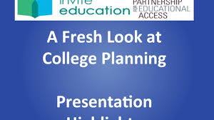 a fresh look at college planning highlights for national