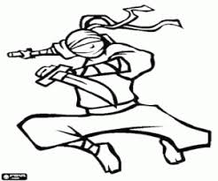 ninja coloring pages printable games