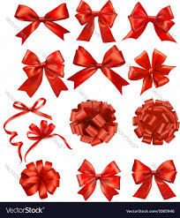 gift bows big set of gift bows with ribbons royalty free vector
