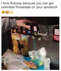 Subway Sandwich Meme - dopl3r com memes i love subway because you can get unlimited