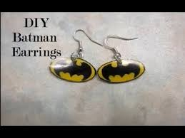 batman earrings diy batman earrings