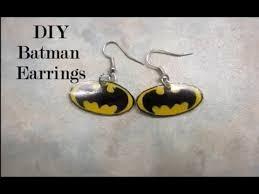 batman earrings diy batman earrings