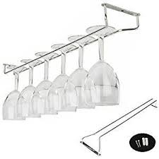 amazon com under cabinet wine glass rack gloednapple stainless
