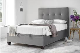 Kaydian Walkworth Ottoman Bed In Silver Crushed Velvet Beds On Legs - Snooze bunk beds