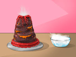 how to make a volcano cake with pictures wikihow