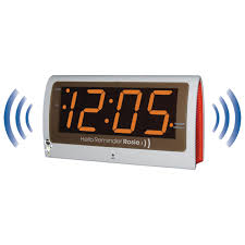 Personalized Clocks With Pictures Maxiaids Reminder Rosie Talking Alarm Clock With Personalized