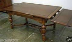 1930 Dining Room Furniture Antique Oak Refectory Table Large Jacobean Oak Drawleaf