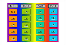 jeopardy template u2013 36 free word excel ppt pdf format download