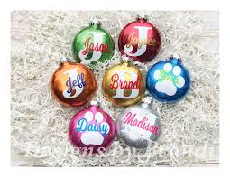 Christmas Glitter Ornaments Personalized Glitter Ornaments Personalized Christmas
