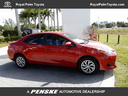 toyota car information 2018 new toyota corolla le cvt at royal palm toyota serving