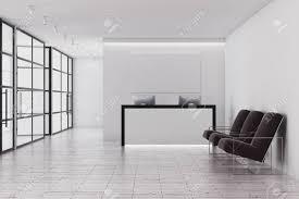 Reception Desk Glass Contemporary Office Interior With Reception Desk Glass Walls