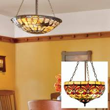 stained glass dining room light brighten a room with dark wood by hanging a stained glass l with