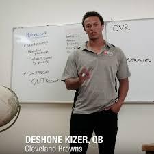 photos and professor qb browns qb deshone kizer react to his madden nfl 18 rating