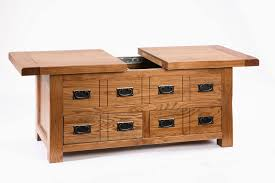 fresh nexera allure coffee table with hidden storage table