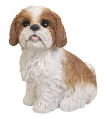 shih tzu brown sitting resin garden ornament 26 59