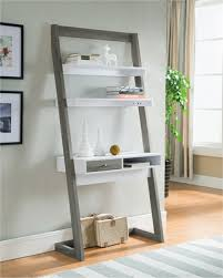 stand up l with shelves on sale now 25 off ulrich transitional stand up desk distressed