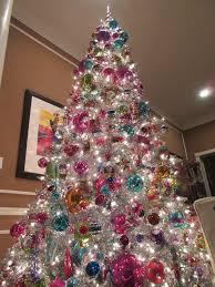 silver tinsel christmas tree retro silver tinsel christmas tree holidays silver
