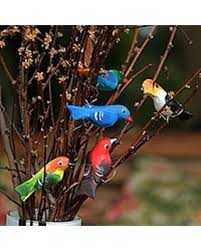 amazing deal wood ornaments birds in my garden set of 5 brazil