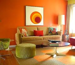 orange and green living room decorating ideas home combo