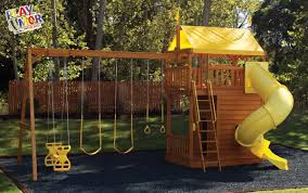How To Build A Wooden Playset Wooden Outdoor Playset How To Dig A Foot Of Concrete For Outdoor