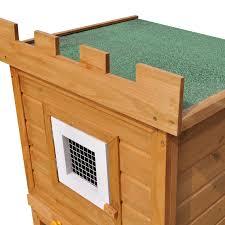 outdoor large rabbit hutch house pet cage double house vidaxl com
