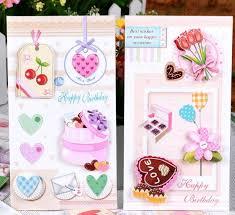 cake 3d stereo folding handmade birthday card greeting card