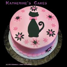 Birthday Cakes Beautiful Cat Birthday Cake Design