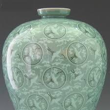 Celadon Vase Replica Of The Great 12th Century Goryeo Celadon Vase