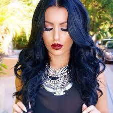 dyed weave hairstyles blue black hair tips and styles dark blue hair dye styles