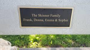 the skinner family park bench in huntington beach ca donna