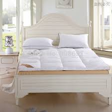 Folding Cing Bed New 5kg King Size Bed White Thickening Folding Luxury Duck