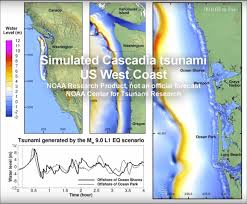 Oregon Tsunami Map by Cascadia Earthjay Science