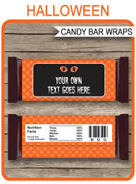 halloween hershey candy bar wrappers personalized candy bars