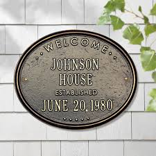 garden plaques personalized welcome house plaque at brookstone buy now