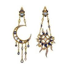 percossi papi earrings mooning italian designer diego percossi papi s dreamy e