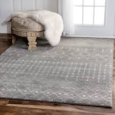 Fur Runner Rug Grey Ivory 9 X 12 Area Rug Indoor Home Goods Free Shipping On