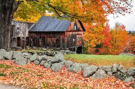 New Hampshire scenery images Rustic barn new hampshire autumn scenic photograph by expressive jpg