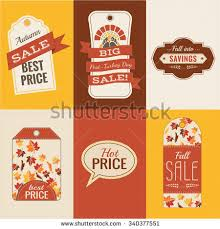 thanksgiving sale tags fall colors fall stock vector 340377551