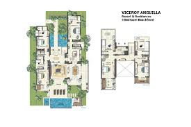 four seasons park floor plan villa 5 at the viceroy caribbean collection
