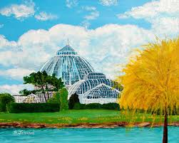 belle isle painting belle isle conservatory by suzanne johnson