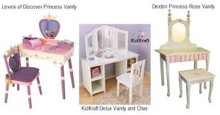 Little Girls Play Vanity Collection In Kid Vanity Table And Chair With Little Play